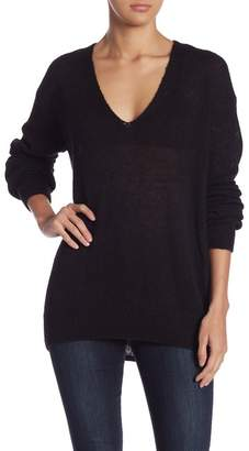 Free People Gossamer Alpaca Blend V-Neck Sweater