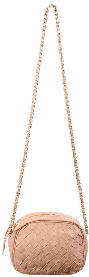 Weaved Chain Shoulder Bag