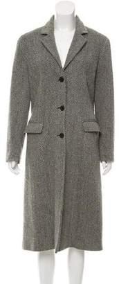 Barneys New York Barney's New York Herringbone Long Coat