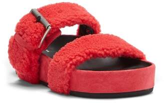 Rag & Bone Evin Genuine Shearling Slide Sandal
