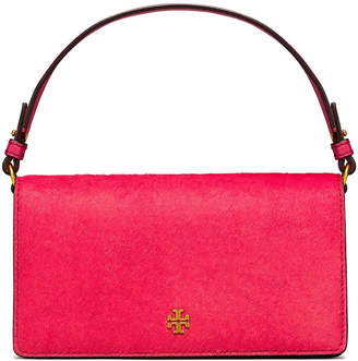 Tory Burch Cleo Haircalf Fold-Over Clutch