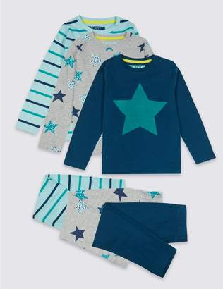 Marks and Spencer 3 Pack Star Pyjamas (18 Months - 7 Years)