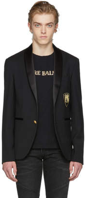 Pierre Balmain Black Single-Breasted Blazer