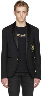 Pierre Balmain Black Single-Breasted Blazer