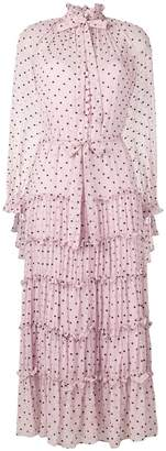 Zimmermann polka dot tiered dress