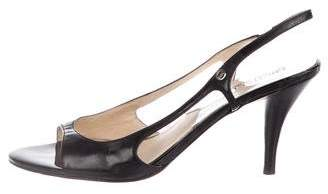 MICHAEL Michael Kors Patent Leather Slingback Sandals