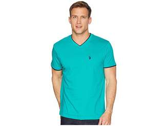 U.S. Polo Assn. Double Ringer V-Neck T-Shirt Men's T Shirt