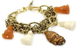 Yochi Buddha Set on Multi Chain Bracelet