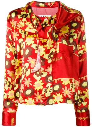 MM6 MAISON MARGIELA floral long-sleeve blouse