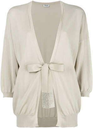 Liu Jo tied cropped sleeve cardigan