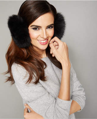 The Fur Vault Fox Fur Earmuffs