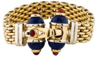 Lapis 18K Carnelian & Link Bracelet