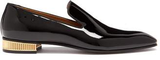Christian Louboutin Colonnaki Patent Leather Loafers - Mens - Black