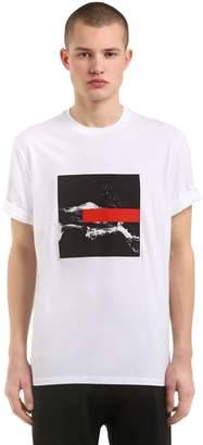 Neil Barrett Loose Fit Liquid Ink Jersey T-Shirt