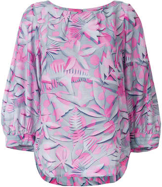 Marc Cain leaf print blouse