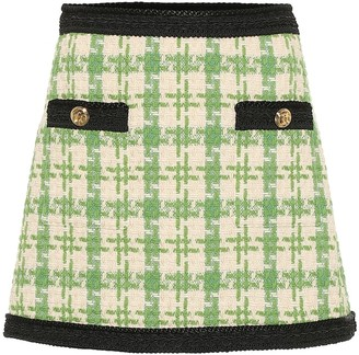 Gucci Wool and cotton-blend miniskirt