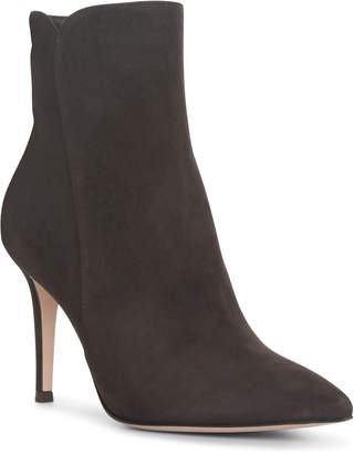 Gianvito Rossi Levy dark brown suede ankle boots