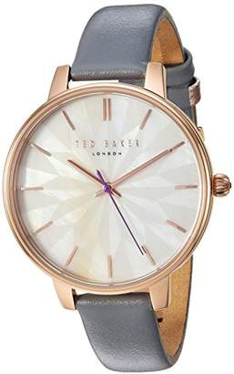 Ted Baker Women's 'Kate' Quartz Stainless Steel and Leather Dress Watch