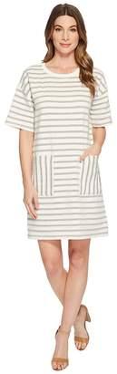 Vince Camuto Short Sleeve Drop Shoulder Stripe Dress Women's Dress