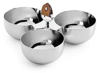 Ralph Lauren Wyatt Stainless Steel Triple Nut Bowl