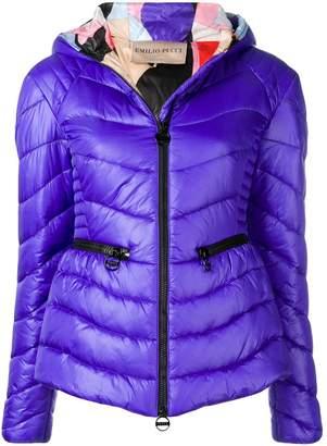 Emilio Pucci Zip Front Quilted Coat