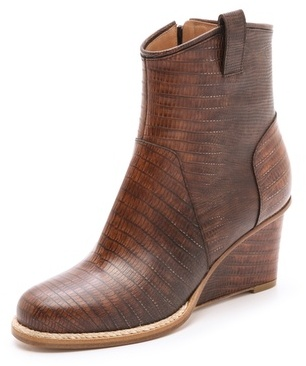 Maison Martin Margiela Leather Wedge Booties