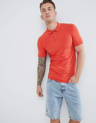 Asos Design DESIGN Muscle Fit Polo In Jersey