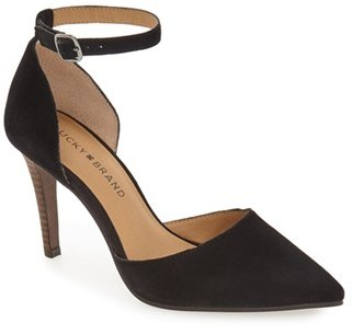 Lucky Brand 'Tukko' d'Orsay Ankle Strap Pump (Women) $98.95 thestylecure.com