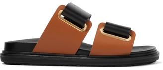 Marni - Leather Slides - Black $690 thestylecure.com