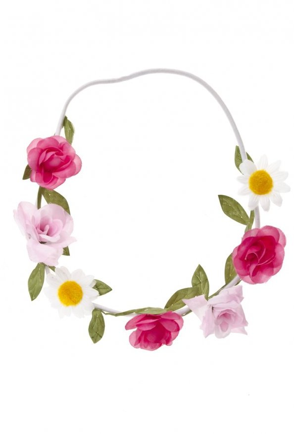 Pink Large Flower Garland Headband