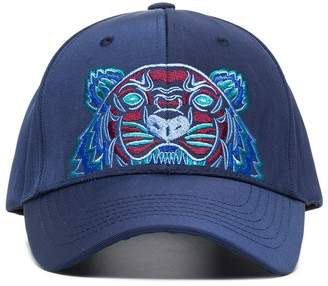 Kenzo navy tiger embroidered cotton cap