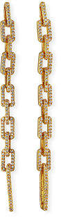 Fallon Squared Pave Link Drop Earrings