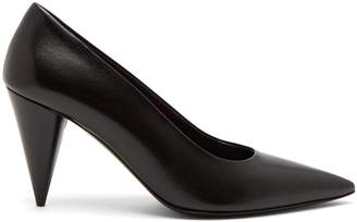 The Row Cone-heel leather pumps