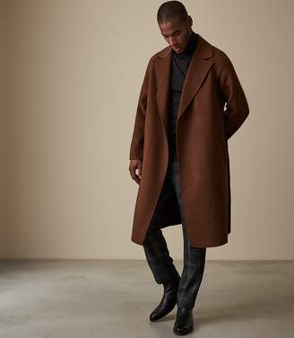 Reiss Vincent Wool Belted Overcoat