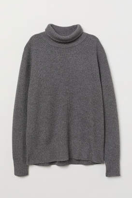 H&M Cashmere-blend Turtleneck - Gray