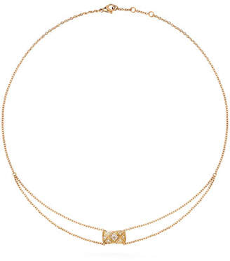 Chanel Coco Crush Pendant In 18k Beige Gold And Diamonds