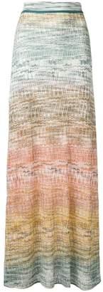 Missoni zig-zag knit maxi skirt