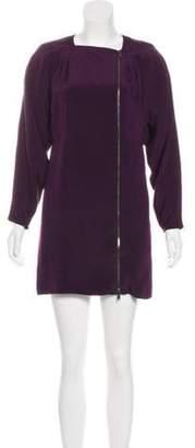 Gucci Mini Zip-Up Dress Purple Mini Zip-Up Dress