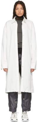 A-Cold-Wall* White Drawstring Coat