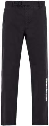 Off-White Logo-print cotton chino trousers