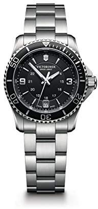 Victorinox Women's 241701 Maverick Watch with Black Dial and Stainless Steel Bracelet