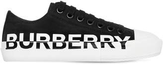 Burberry 20mm Larkhall Cotton Canvas Sneakers