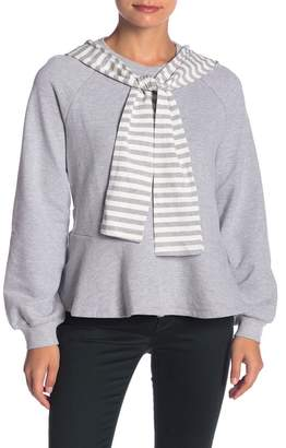 ENGLISH FACTORY Striped Hooded Sweater