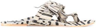 zebra print Scaramouche sandal