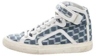 Pierre Hardy Printed High-Top Sneakers