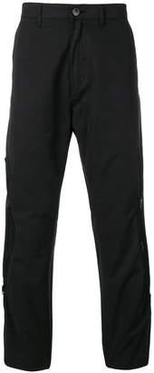 Stone Island Shadow Project black lightweight zip trousers