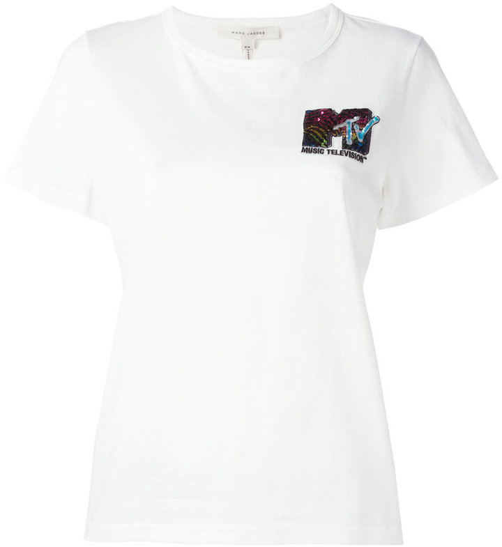 Marc Jacobs Marc Jacobs MTV embroidered T-shirt