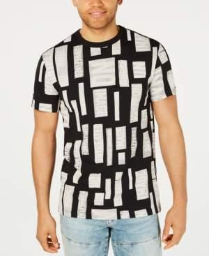 G Star Raw Men's Geometric Text Print T-Shirt, Created for Macy's