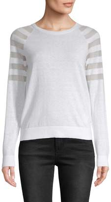 Armani Exchange Women's Mesh-Accented Pullover