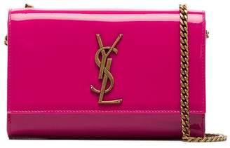Saint Laurent pink Patent leather kate monogram cross body Bag
